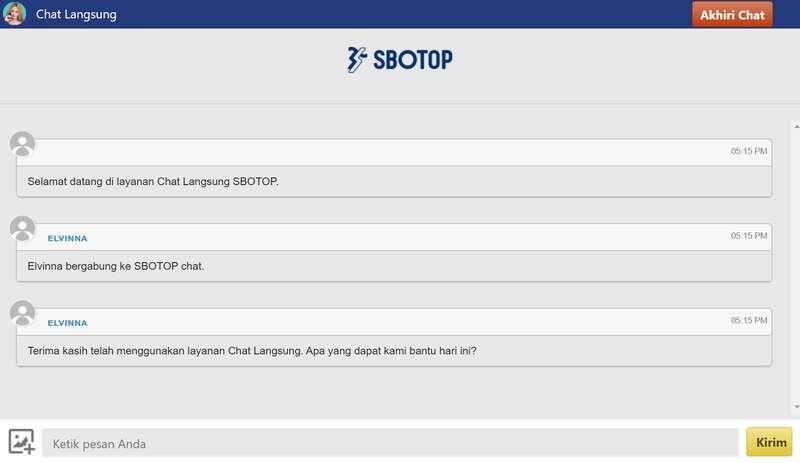 Layanan Live Chat Sbotop Siap Membantu